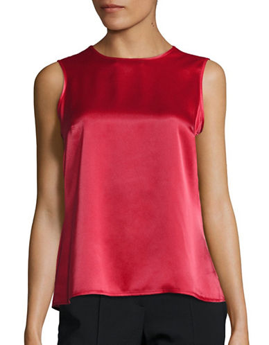 Kasper Suits Sleeveless Shell Blouse-FIRE RED-X-Large