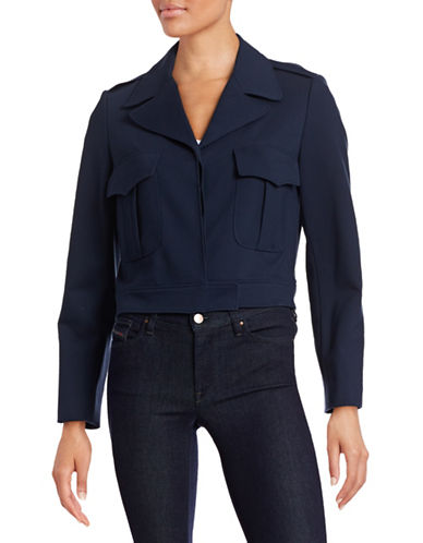 Anne Klein Cropped Pocket Jacket-NAVY-10