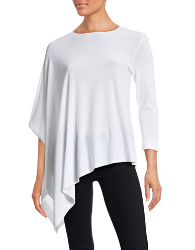 Anne Klein Asymmetric Poncho Top-WHITE-Large 88343631_WHITE_Large