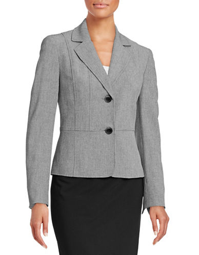 Kasper Suits Seamed Blazer-GREY-12