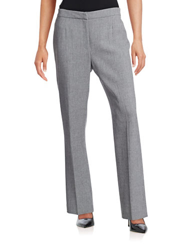 Kasper Suits Marled Trousers-GREY-4