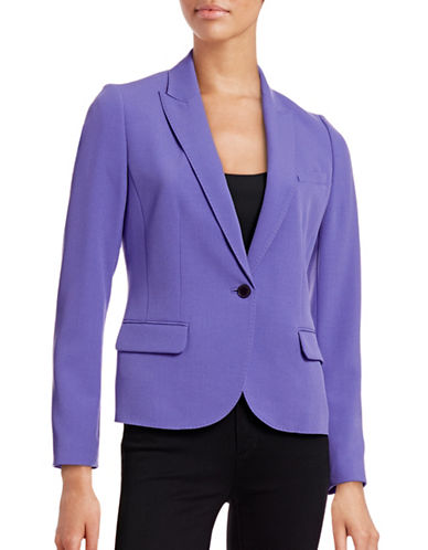 Anne Klein One-Button Peak Lapel Jacket-CHICORY-10