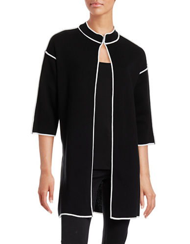 Kasper Suits Open Front Topper Cardigan-BLACK-Small 88528215_BLACK_Small