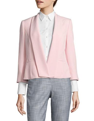 Kasper Suits Shawl Lapel Blazer-PINK-4