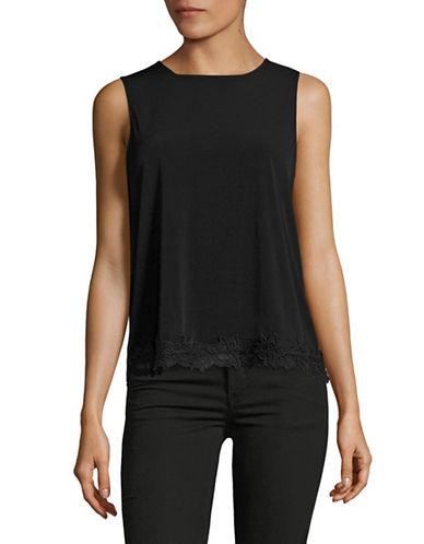 Kasper Suits Matte Jersey Lace-Trim Tank-BLACK-Small 88954434_BLACK_Small