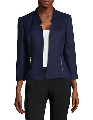 Kasper Suits Textured Jacket-NAVY-12