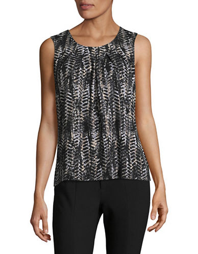 Kasper Suits Printed Stretch Cami-CLAY MULTI-X-Large