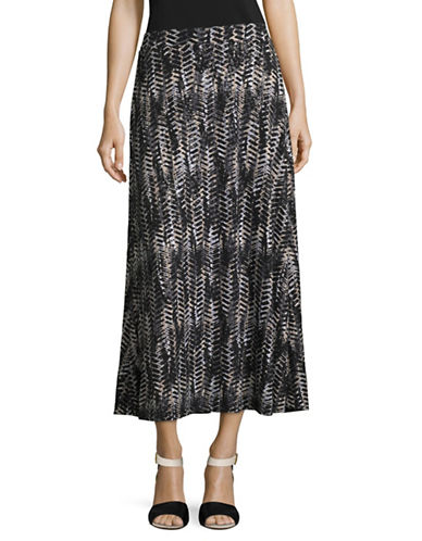 Kasper Suits Printed Maxi Skirt-CLAY MULTI-Large