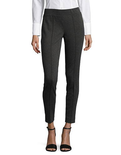 Kasper Suits Elasticized Ponte Pants-GREY-16