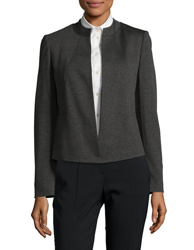 Kasper Suits Flyaway Ponte Jacket-GREY-10