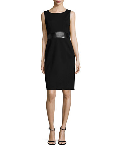 Kasper Suits Sleeveless Sheath Dress-BLACK-4