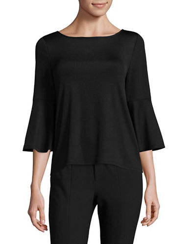 Kasper Suits Classic Bell Sleeve Top-BLACK-Small 89406369_BLACK_Small