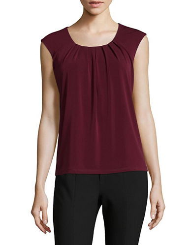 Kasper Suits Sleeveless Blouse-RED-X-Large