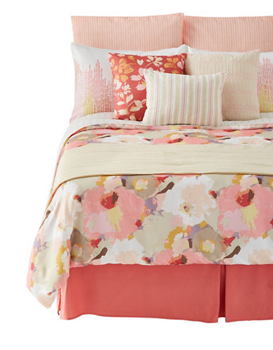 Martha Stewart Painters Palette 10-Piece Comforter Set-CORAL-King