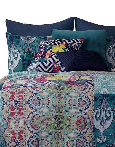 Tracy Porter Florabella Prewashed Patchwork Quilt-TEAL-Twin