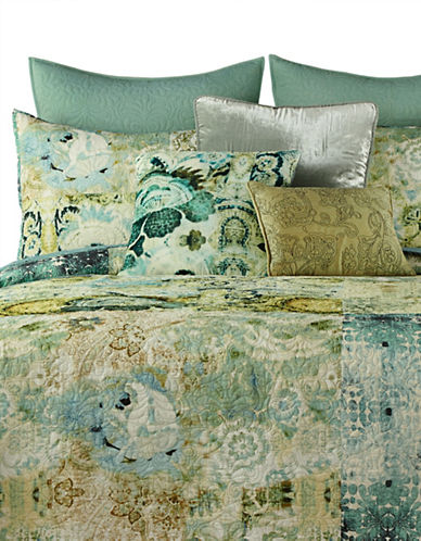 Tracy Porter Chloe Prewashed Patchwork Quilt-GREEN-Queen