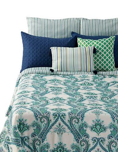 Martha Stewart Adana Paisley Seven-Piece Comforter Set-BLUE-King