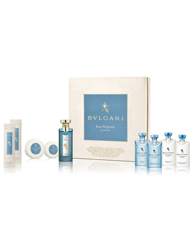 Bvlgari Nine-Piece Eau Parfumee Au The Bleu Set-NO COLOUR-One Size