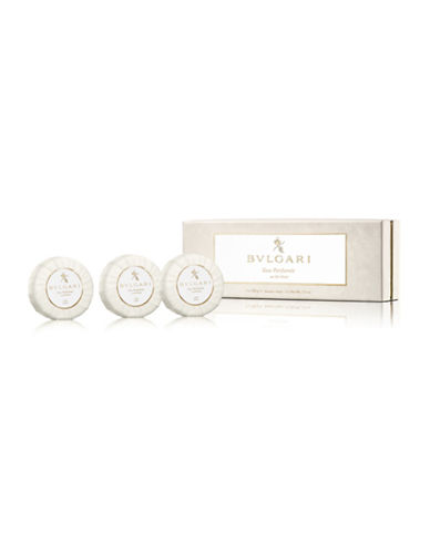 Bvlgari Set of Three Eau Parfumee The Blanc Soaps-NO COLOUR-One Size