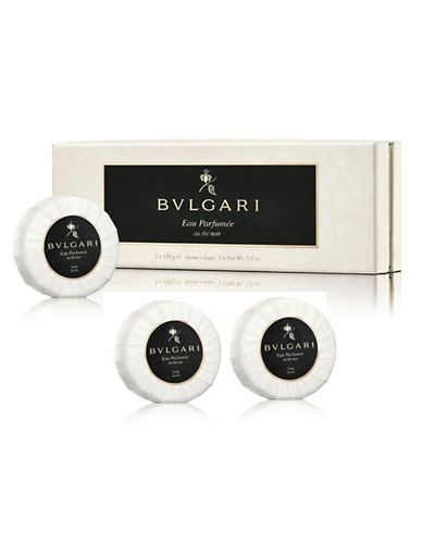 Bvlgari Eau Parfumee Au The Noir Soap Three-Piece Set-NO COLOUR-One Size