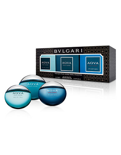 Bvlgari Three-Piece Aqva Eau De Toilette Set-0-15 ml