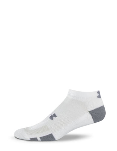 Under Armour Resistor Training Low Cut Sock-WHITE-7-12