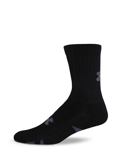 Under Armour Heat Gear Training Crew Sock-BLACK-7-12 86762354_BLACK_7-12