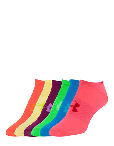 Under Armour Six-Pack Liner No-Show Socks-ASSORTED-One Size