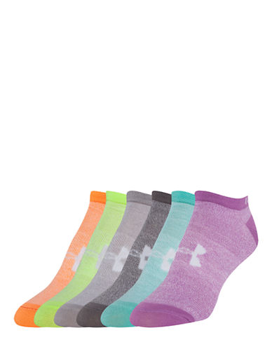 Under Armour Six-Pack Liner No-Show Socks-MARLY MULTI-One Size