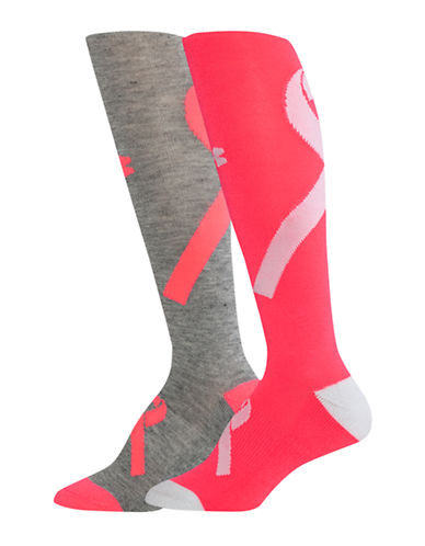 Under Armour Two-Pack Over-the-Calf Socks-GREY-One Size