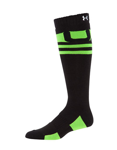 Under Armour Mountain Big Air Over-The-Calf Socks-GREEN-Large