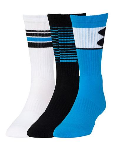 Under Armour Three-Pack Phenom Crew Socks-BLUE-Large 88295149_BLUE_Large