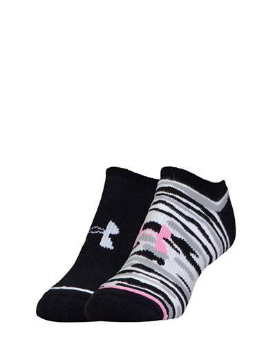 Under Armour Pack of Two Armourstyle Solo Socks-BLACK-One Size