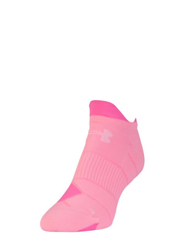 Under Armour Double-Tab No-Show Socks-PINK-One Size 88135804_PINK_One Size