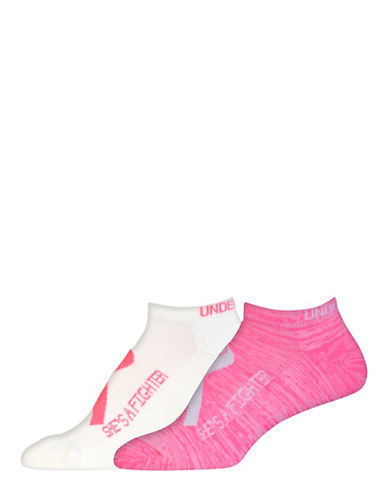 Under Armour Power In Pink 2.0 No Show Socks-WHITE-One Size 88548722_WHITE_One Size