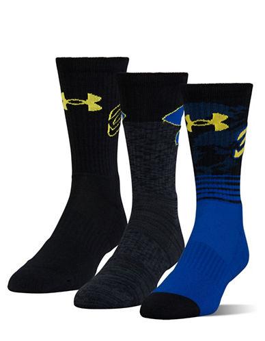 Under Armour Phenom Curry Crew Socks-BLUE-Large