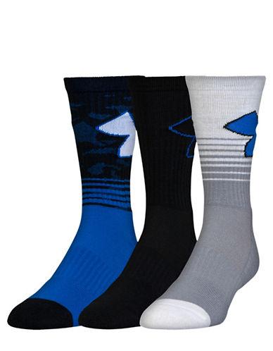 Under Armour Three-Pack UA Phenom 2.0 Crew Socks-BLUE-Large 88489956_BLUE_Large