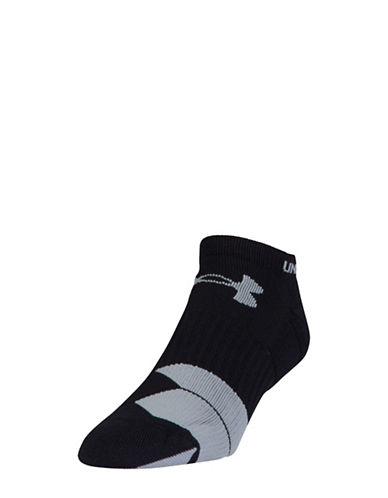 Under Armour Run Cushion No-Show Socks-BLACK-Large