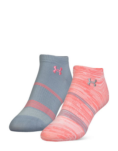 Under Armour UA Grippy No Show Two-Pack Socks-PINK-One Size 88939035_PINK_One Size