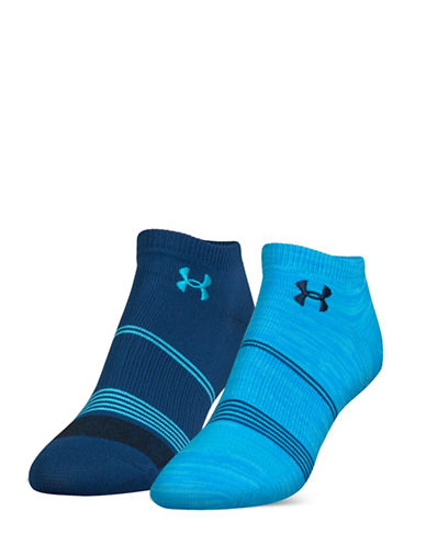 Under Armour UA Grippy No Show Two-Pack Socks-NAVY-One Size 88939036_NAVY_One Size