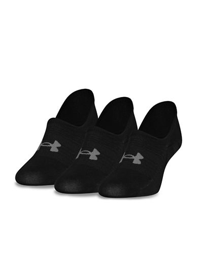 Under Armour Womens Three-Pack Essential Ultra Low Liner Socks-BLACK-One Size 89834185_BLACK_One Size