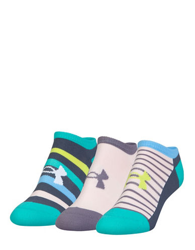 Under Armour UA Athletic Solo Three-Pack Socks-GREEN-One Size
