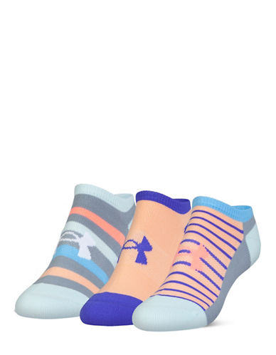 Under Armour UA Athletic Solo Three-Pack Socks-BLUE-One Size