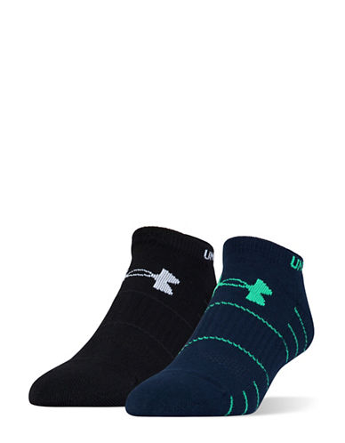 Under Armour Two-Pair Golf Elevated Performance No Show Socks Set-ACADEMY BLUE-Large 89064533_ACADEMY BLUE_Large