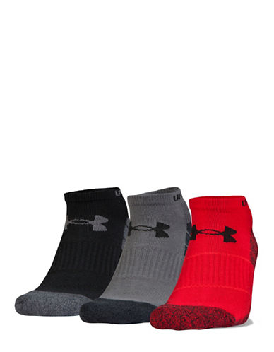 Under Armour Elevated Performance No-Show Socks-RED-Large