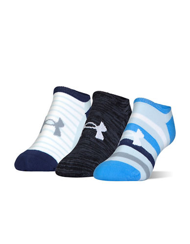 Under Armour Three-Pack Athletic Socks Set-ASSORTED-One Size