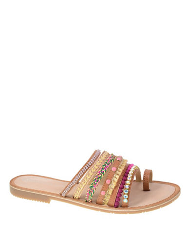 Chinese Laundry Beaded Toe-Ring Sandals-PINK-6.5