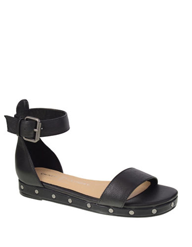 Chinese Laundry Grady Studded Leather Sandals-BLACK-5.5