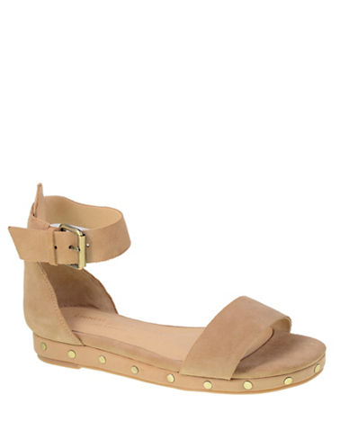 Chinese Laundry Studded Suede Sandals-BEIGE-7.5