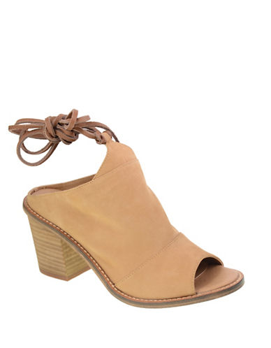 Chinese Laundry Leather Stacked-Heel Mules-BEIGE-6.5